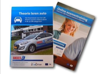 theorieboek voor de auto plus online oefenexamens